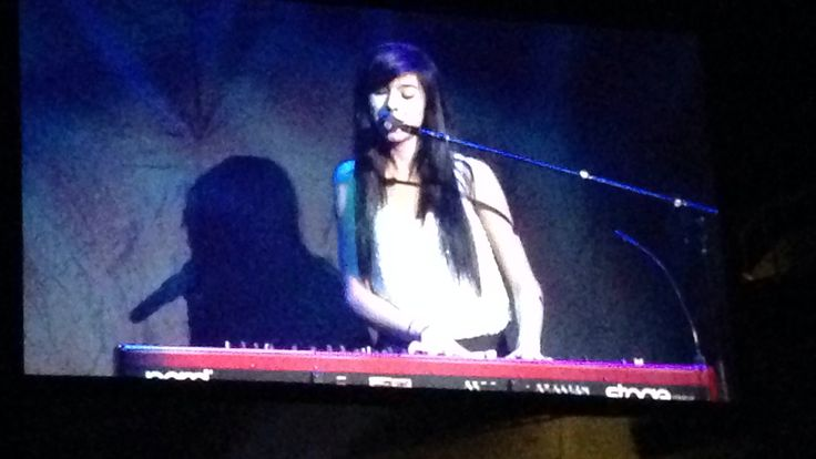 Christina Grimme opening act for Selena Gomez's stars dance tour 2013 at the sap Center in San Jose California on November 10, 2013..i was there