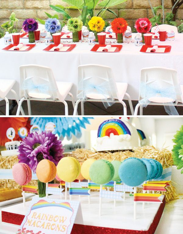 Clever Over the Rainbow Wizard of Oz Birthday Party