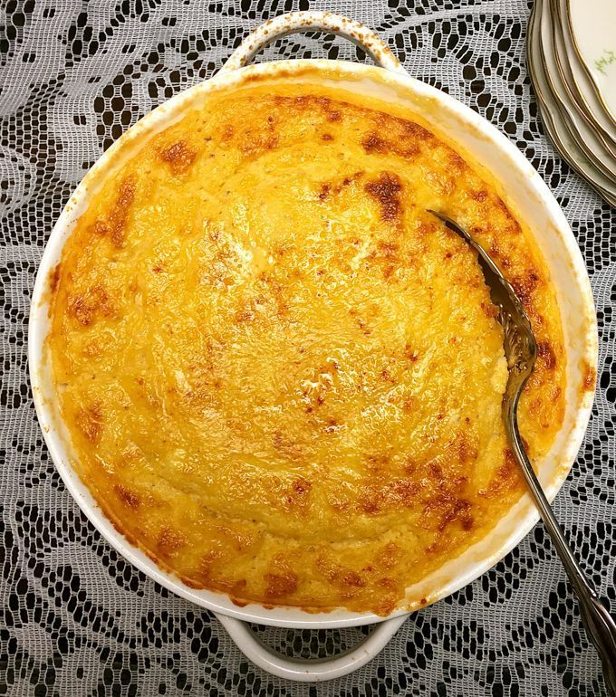 Delicious and easy to make Southern Cheese Grits Casserole is comfort food nirvana and a perfect side dish for your Easter or Mother's Day Breakfast or Brunch.