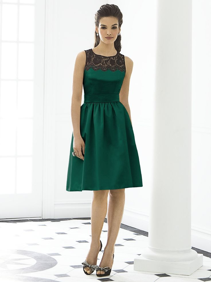 Dressy bridesmaids dress. Looks very 'emerald green January wedding' to me :)