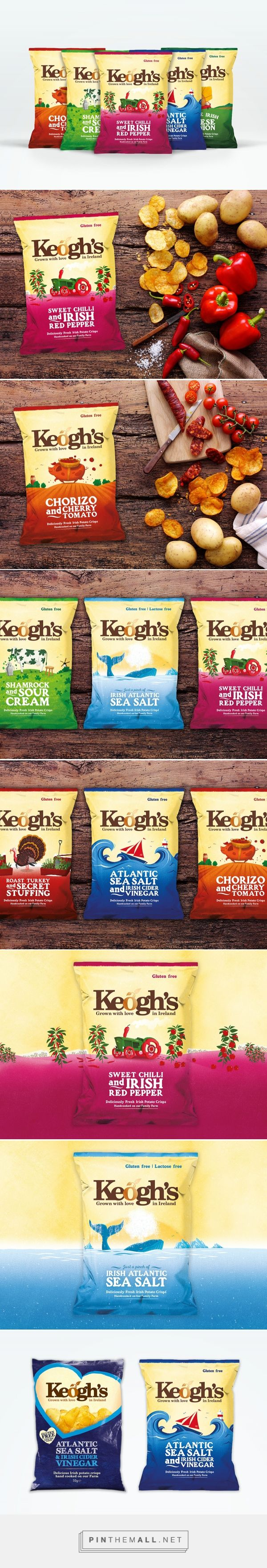 Before & After - Keogh's Premium Crisps packaging design by Brandpoint - http://www.packagingoftheworld.com/2017/10/keoghs-premium-crisps.html