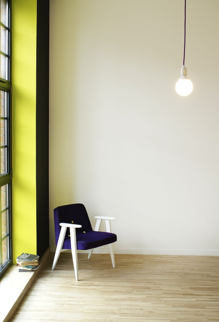 The most popular Polish chair designed in 60's  - 366 by Chierowski! In eggplant colour.
