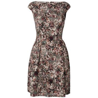 Almari Floral Slash Neck Dress