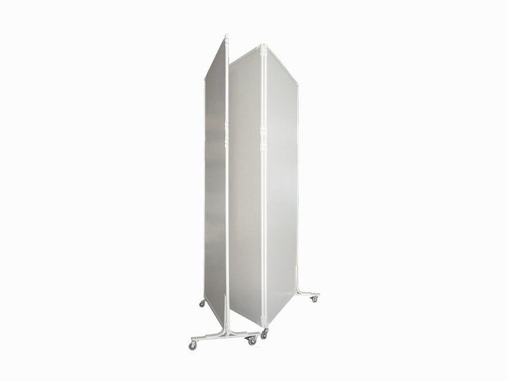 CLIPPER TRIO - Pannelli divisori, pareti mobili, separè su ruote, schermi flessibili, progettazione, produzione e vendita - Clipper System #divisorio #openspace