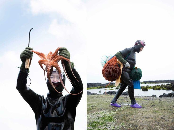 Hunting shellfish with the haenyeo