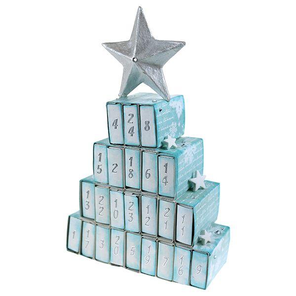 Pikkuisista tulitikkuaskeista valmistettu joulukalenteri!