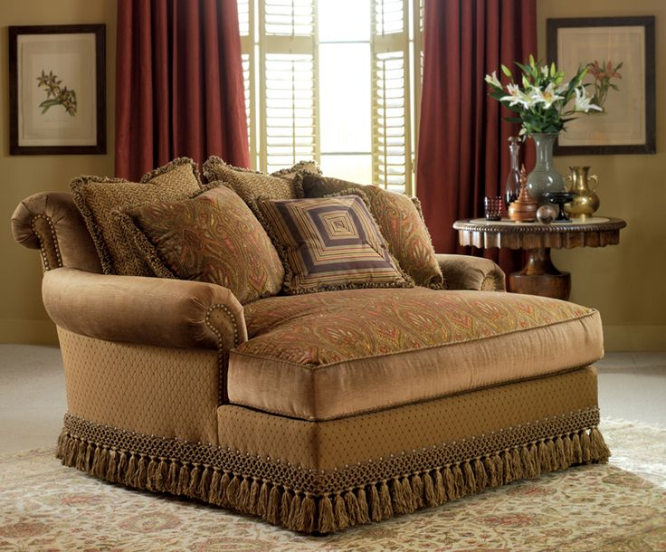 Two person chaise lounge - love seat furniture - Manufacturer: Highland House -- Collection: Gigi Chaise