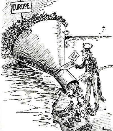 In 1924 the US passed the US Immigration Act which limited the number of people who could legally enter the United States.  Image obtained March 11, 2013 from http://ztiernan8.blogspot.com/2013/01/immigration-dbq.html.