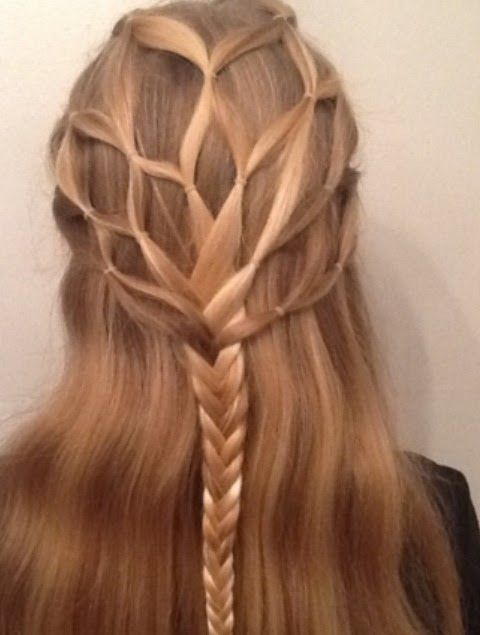 Renaissance Faire hair ideas | renaissance wedding - this would make a great 'elven' braid too!