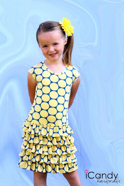 icandy handmade: (tutorial and pattern) Layers of Sunshine Dress - with knit fabric