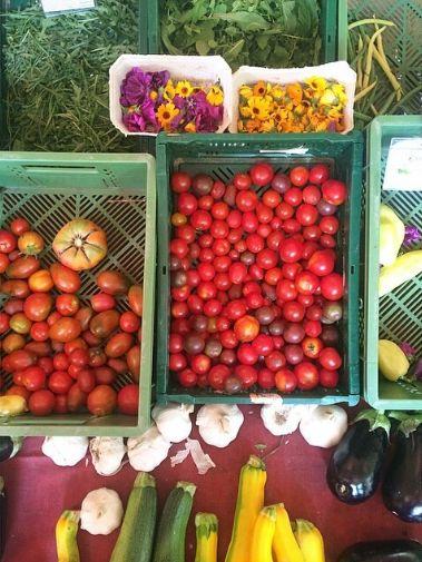 Amazing fresh produce at the Boxi farmers market!