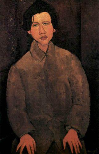 Chaïm SOUTINE, portrait par A. Modigliani