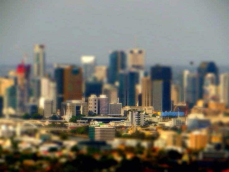 Brisbane-Experiment with tilt shift ©Aaron Watson