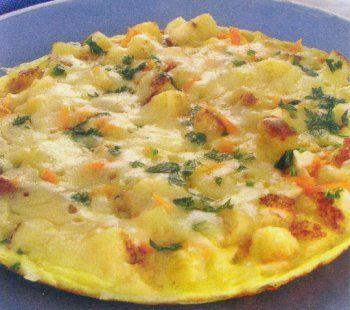 Omelete Completa com Frango Desfiado