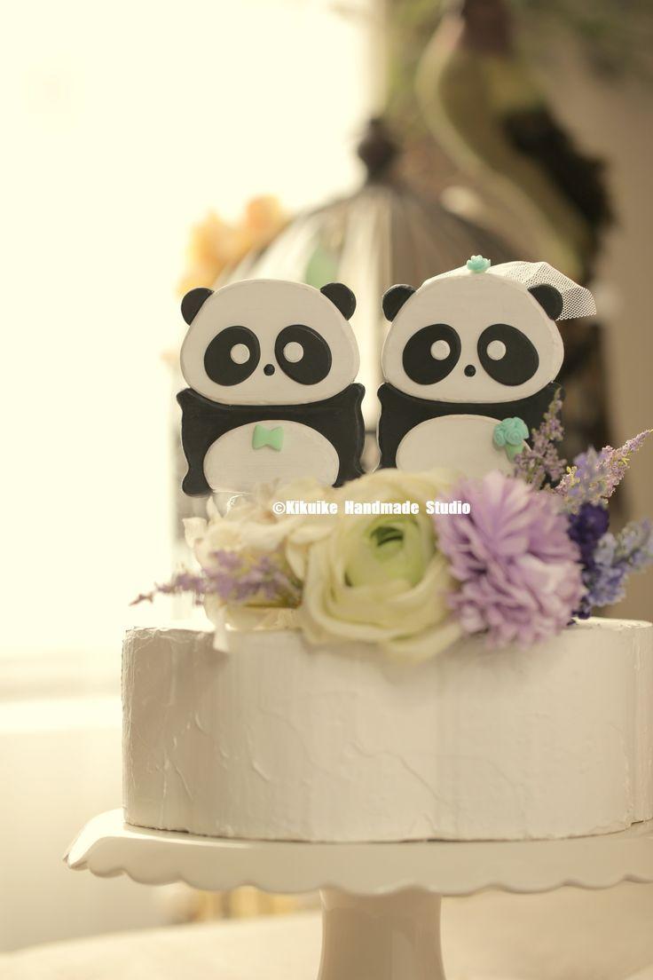panda wedding cake topper ,Handmade panda cake topper,Handcrafted wood panda doll #weddingideas #cakedecor #cute #animalscaketopper #handmadecaketopper #custom #ceremony #gift #unique #weddingseason #couple #kikuikestudio #2D #パンダ #結婚式 #nozze #Boda #Hochzeit #marriage
