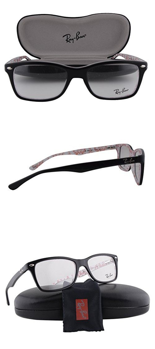 717980a84287 Ray Ban RX5228 Eyeglasses 53-17-140 Top Black On Texture White 5014 RX 5228  in 2018