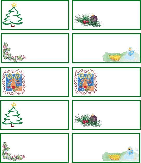 vánoční jmenovky, jmenovky na dárky, jmenovka na dárek
