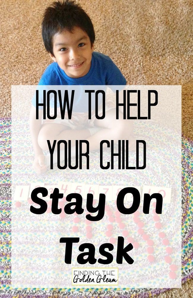 The secret to helping your preschool child with adhd or lots of energy stay on task.