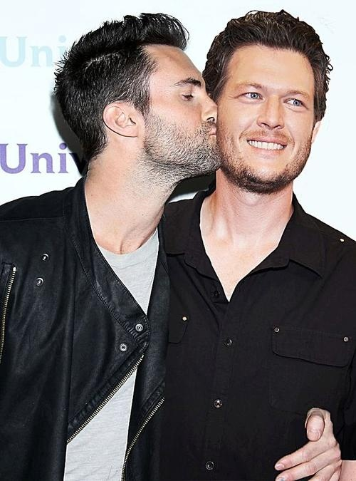 Adam Levine & Blake Shelton. Love their bromance on the voice!!