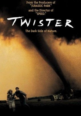 Twister (1996) In this dizzying, effects-driven drama, two scientists (Helen Hunt and Bill Paxton) chase tornadoes in their quest to record and study them. Taking a backseat to the wild and visually mesmerizing storms are subplots concerning a failing marriage, childhood trauma and corporate ethics. The film received multiple Academy Awards for its spectacular sound and visual effects (including the famous flying cow).
