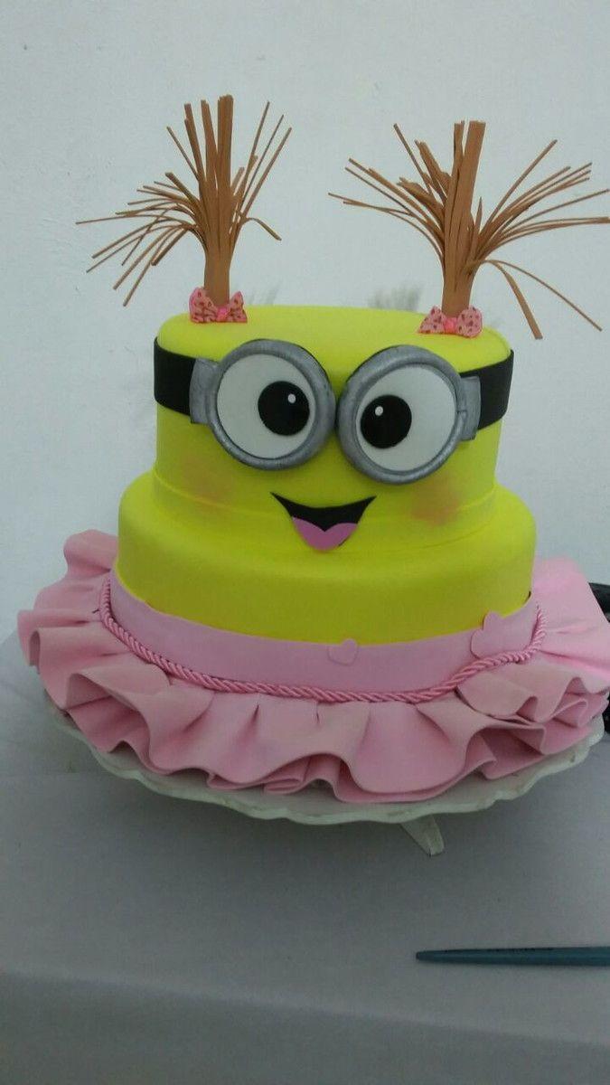 Female Minion Cake