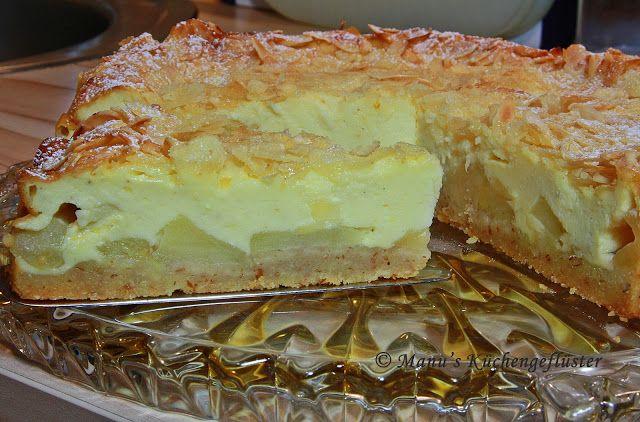 Manus Küchengeflüster: Apfel-Quark-Kuchen mit Mandelkruste