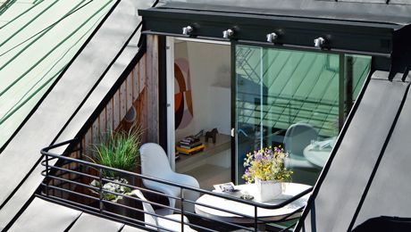 Room in the roof with 'outdoor space'