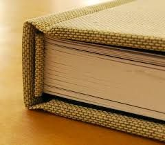 Case Binding: This is the traditional way to produce a hard back book. Buckram is the fabric often used for the covering while the pages are then glued in - long lasting, durable and robust, case bound books last a lifetime.