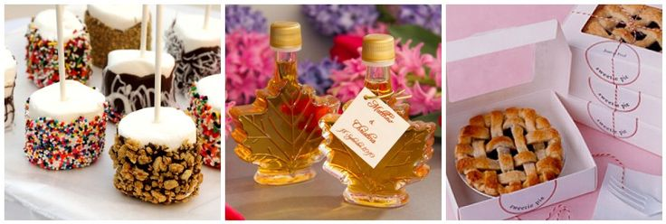 woodsy wedding favors | dipped marshmallow favors via coupon clipping cook maple syrup favors ...