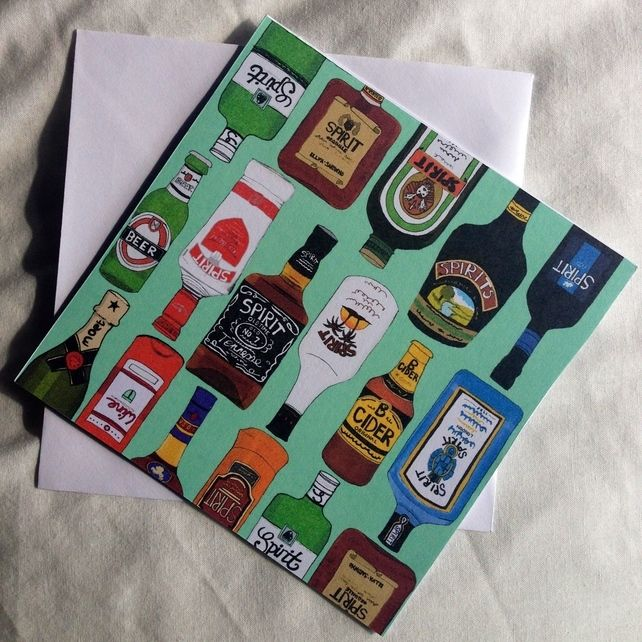 My Famous Drinks Greeting Card  £2.00
