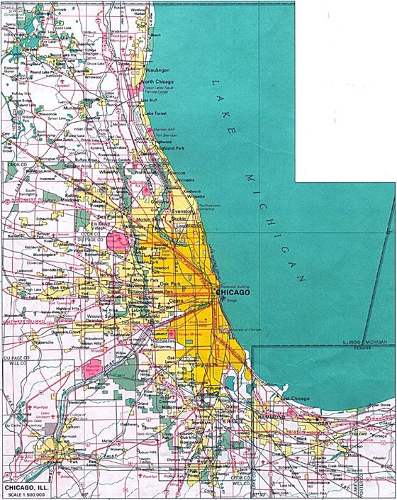 Large Map Of Chicago 1 Gifts Pinterest Chicago Map Printable