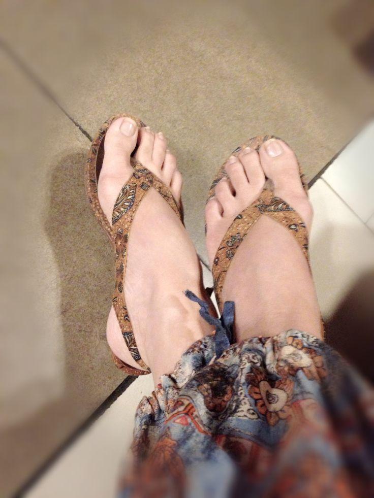 With my CIREBON Wedges in Vintage Batik Sogan by PRibuMI...®