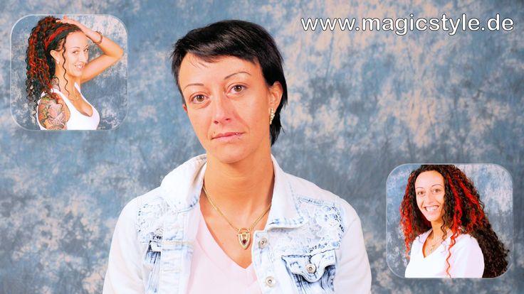 Yvette: Open Braids in sehr kurzes Haar einflechten - vorher - nachher -...