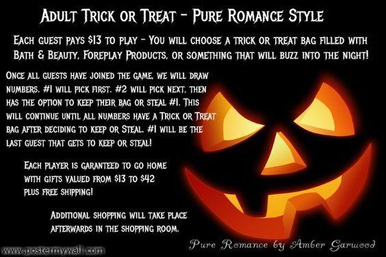 Trick Or Treat - Pure Romance Style  Pure Romance by Amber Garwood  336.902.8418  www.ambergrwood.pureromance.com