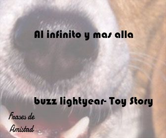 Frases de amistad disney de buzz lightyear- Toy Story