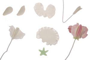 HOW TO MAKE GUMPASTE SWEET PEAS