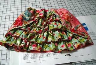 ruffled girls' skirt tutorial
