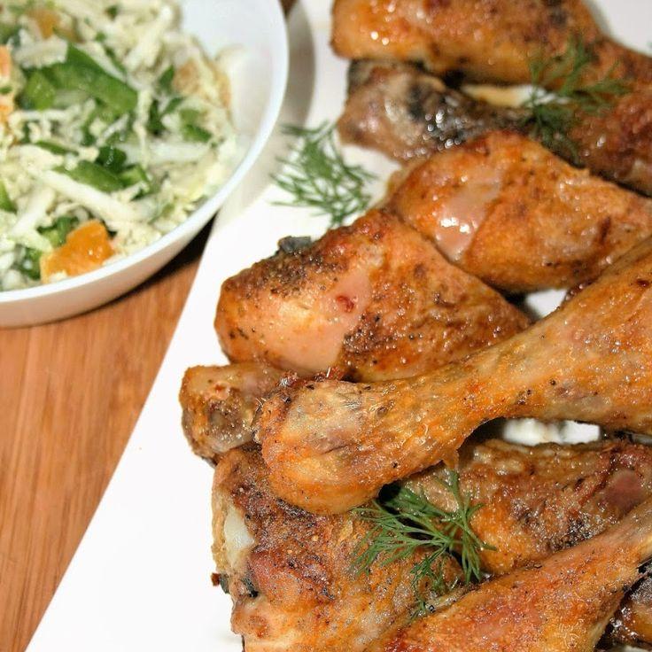 Pałki kurczaka z mocno chrupiącą skórką  (z piekarnika)