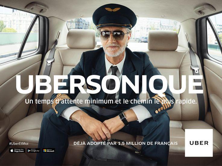 Publicité - Creative advertising campaign - Uber: Ubersonique, un temps d'attente minimum et le chemin le plus rapide