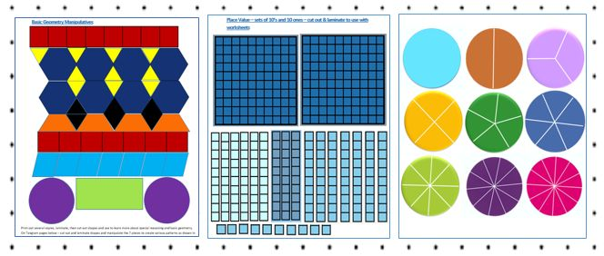FREE Geometry Software - FREE Math Pack Manipulatives and Math Facts Games
