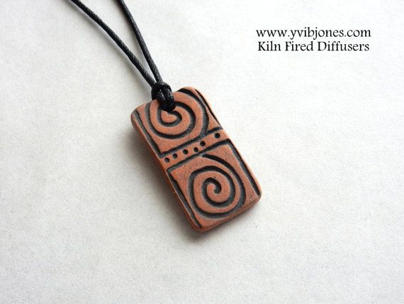 Mens Diffuser Necklace for Essential Oils by KilnFiredDiffusers