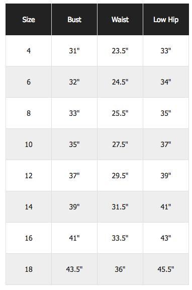 Asos Sizing Chart