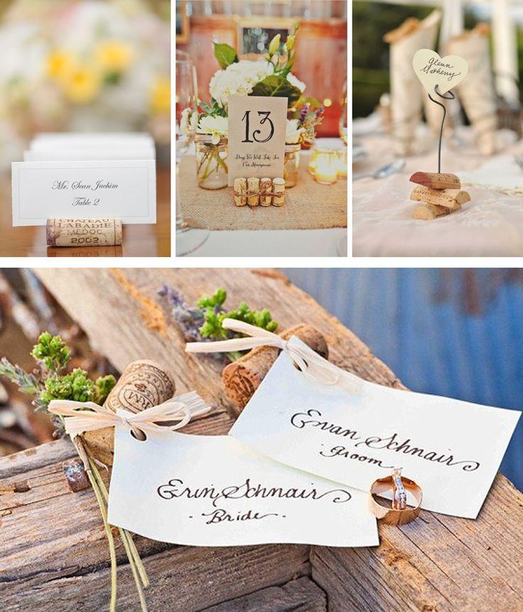 Ideas para decorar tu boda con corchos de vino: sittings