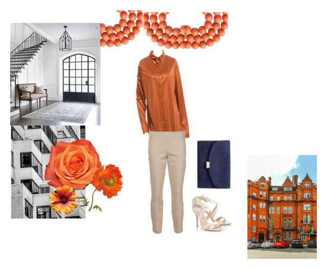 """orange power"" by ivanaputri on Polyvore featuring Akris, The Row, Jimmy Choo and Mansur Gavriel"