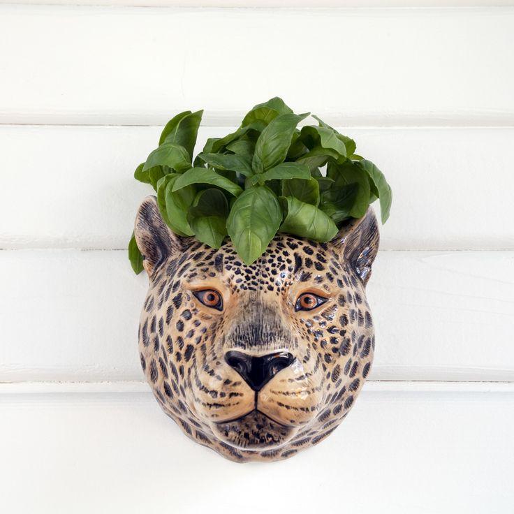 Leopard Wall Vase - Quail Designs Ltd