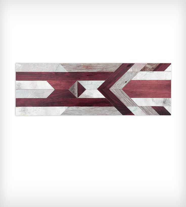 Chevron Wood Wall Art - Rectangle by Goodhand Woodworks on Scoutmob Shoppe. Pieces of reclaimed and stained wood come together in a geometric masterpiece.