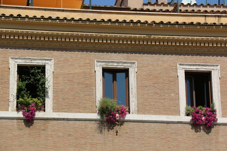 Typical windows of Rome