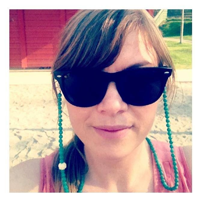 """This is Turid wearing her new Grannycord """"Namaka"""" from our third collection - www.grannycords.com."""