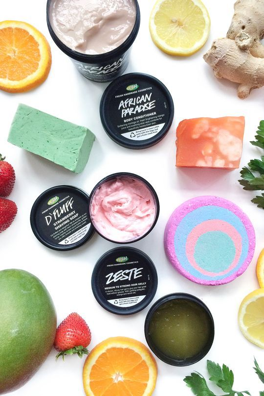 6 Fresh New Products from LUSH - want to try the african paradise body conditioner to use in shower