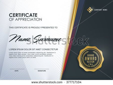certificate template with Luxury and modern pattern, Qualification certificate blank template with elegant,Vector illustration